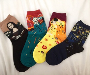 socks, art, and grunge image