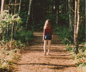 girl, forest, and vintage image