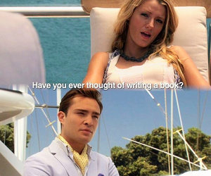 chuck bass, ed westwick, and blake lively image