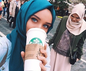 hijab, beauty, and islam image