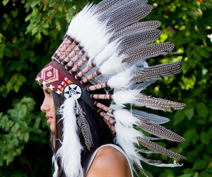 indian costume, feather crown, and native american headdress image