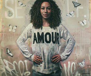 beautiful women, black women, and butterflys image