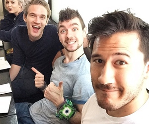 pewdiepie, jacksepticeye, and youtube image