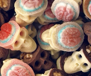 skull, candy, and chocolate image