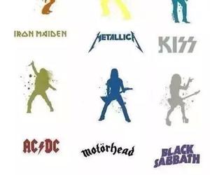 ACDC, Black Sabbath, and kiss image