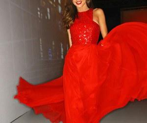 miranda kerr, dress, and red image