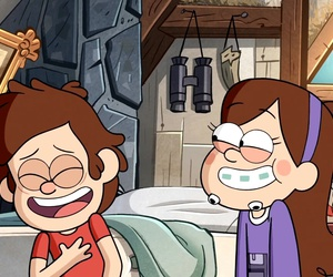 gravity falls, dipper pines, and mabel pines image