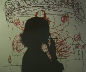 Devil, red, and shadow image