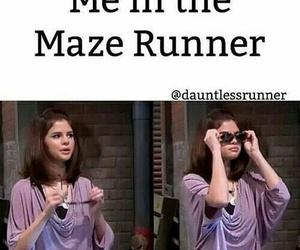 maze runner, funny, and selena gomez image