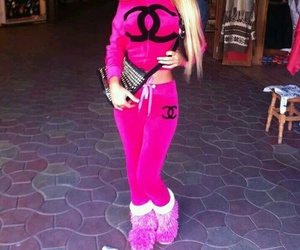 chanel, pink, and blonde image