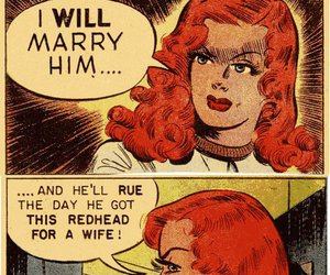 comic, redhead, and vintage image