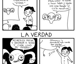 funny, comic, and uterus image