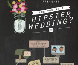 hipster and wedding image