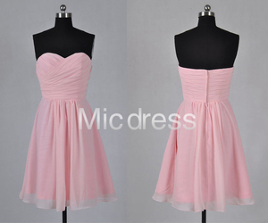 party dress, pink dress, and short dress image