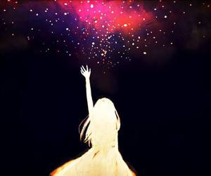 anime, stars, and sky image
