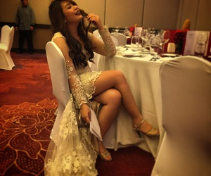 dinner, fashion, and gowns image