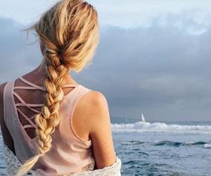 beach, blonde, and blonde hair image