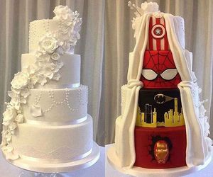cake, wedding, and batman image
