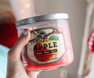 apple, autumn, and scented candle image