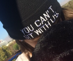 beanie, great america, and you can't sit with us image