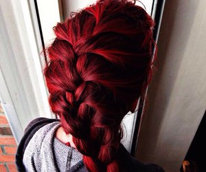 red, hair, and beautiful image