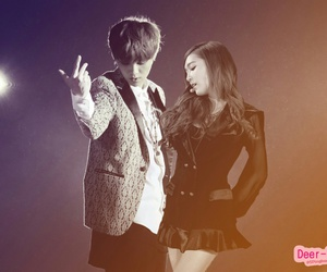 exo, jessica jung, and lusica image