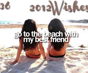 wish, 2012, and beach image
