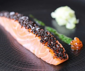 awesome, raw, and salmon image
