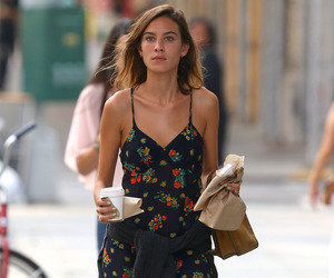 alexa chung, street style, and floral dress image