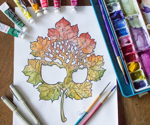 art, artwork, and autumn image