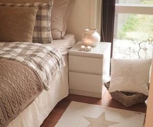bedroom, bed, and beige image