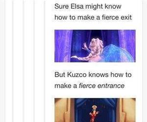 elsa, funny, and kuzco image
