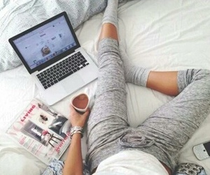 bed, chic, and cozy image