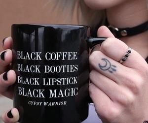 black, coffee, and grunge image