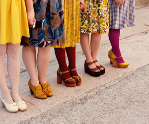 shoes, vintage, and yellow image