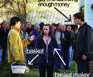 basket, gilmore girls, and dean image