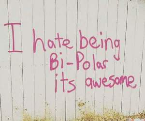 awesome, bipolar, and quote image
