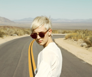 girl, road, and blonde image