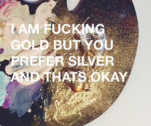 gold, quotes, and silver image
