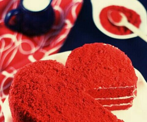 love, cake, and red image