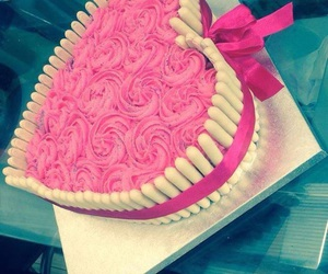 cake, pink, and love image