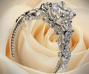 wedding, diamond, and ring image
