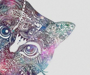 cat, wallpaper, and art image