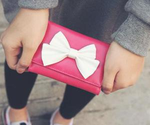 pink, bow, and white image