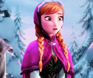anna, purple, and red hair image