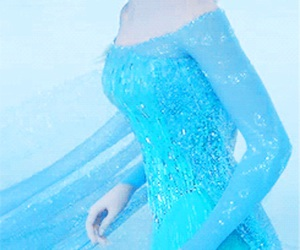 blue, blue dress, and cold image