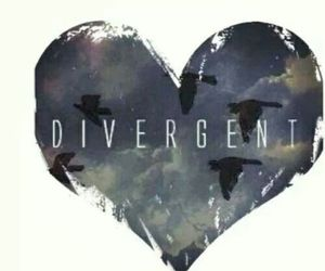 divergent, heart, and book image