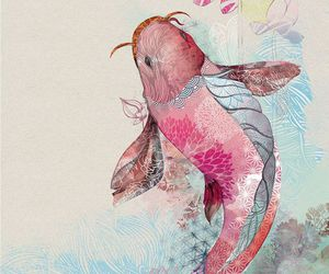 art, fish, and illustration image