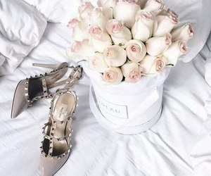 rose, flowers, and shoes image