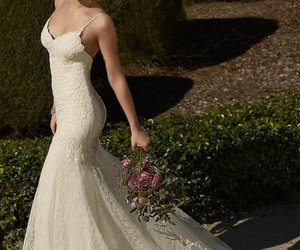 backless, spaghetti straps, and mermaid gown image